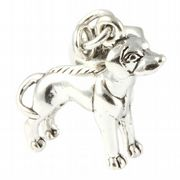 Ridgeback Dog Sterling Silver Dangle Charm / Carrier Bead